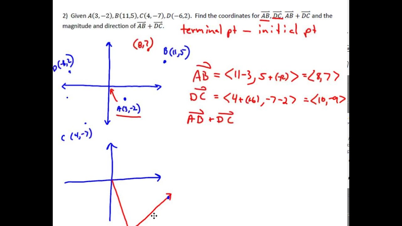 analyzing vectors on the coordinate plane youtube rh youtube com vectors for kids vectors for photoshop