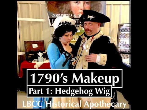 1790's Morning Makeup and Part 1 Working with a Hedgehog Wig