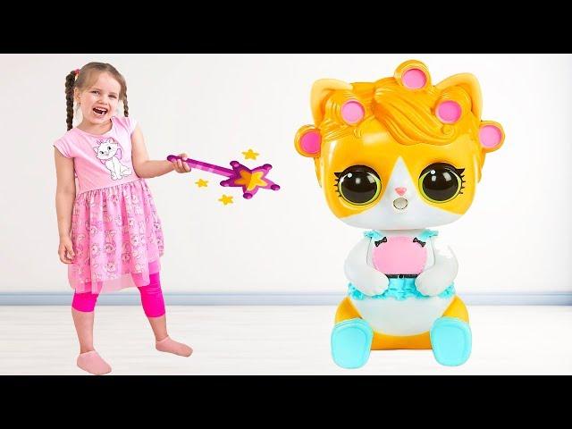 Алёна играет с волшебной палочкой и открывает новые игрушки ЛОЛ Сюрприз / Popsy Toys