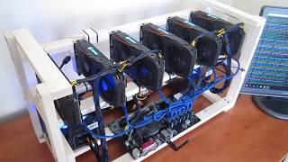 Майнинг ферма Gigabyte Rx570 Aorus 4GB на 6 карт