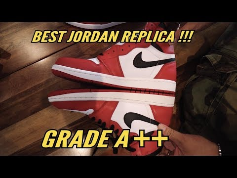 BEST JORDAN REPLICA GRADE A++ (CHICAGO 1) + UNBOXING + ON FOOT **FAKE VS REAL**