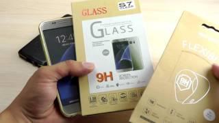 ОБЗОР: Стильный Металлический Бампер для Samsung Galaxy S7 SM-G930F с Кожаной Вставкой