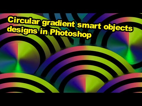 Photoshop tutorial : Circular gradient smart object and endless backgrounds thumbnail