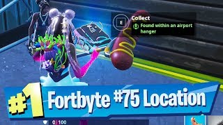 Fortnite Fortbyte #75 Location - Found within an Airport Hanger