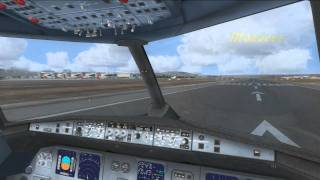 FSX - Spanair A321 - Mallorca to Barcelona - Cockpit CAM with Outside views sprinkled in