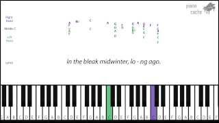 How to play In The Bleak Midwinter on piano (with notes)