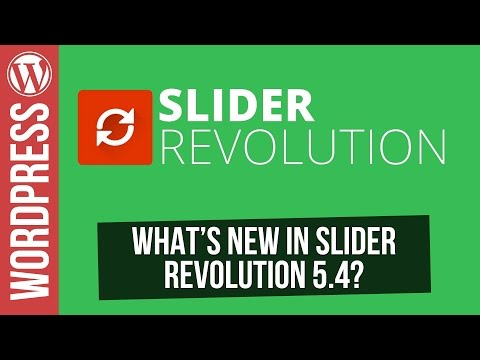 What's New in Slider Revolution 5.4 for Wordpress