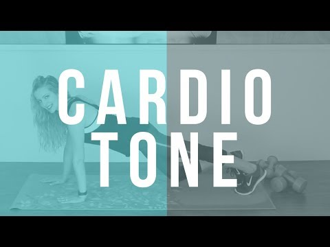 45 Min Low-Impact Full Body Toning & Cardio Workout With Light Weights