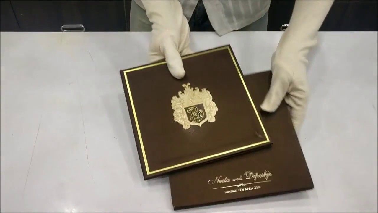 Dashing Coffee Brown Color With Super Premium Invitation Card - KMMX1260 -  YouTube