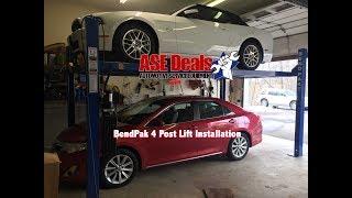 BendPak Four Post Lift Installation