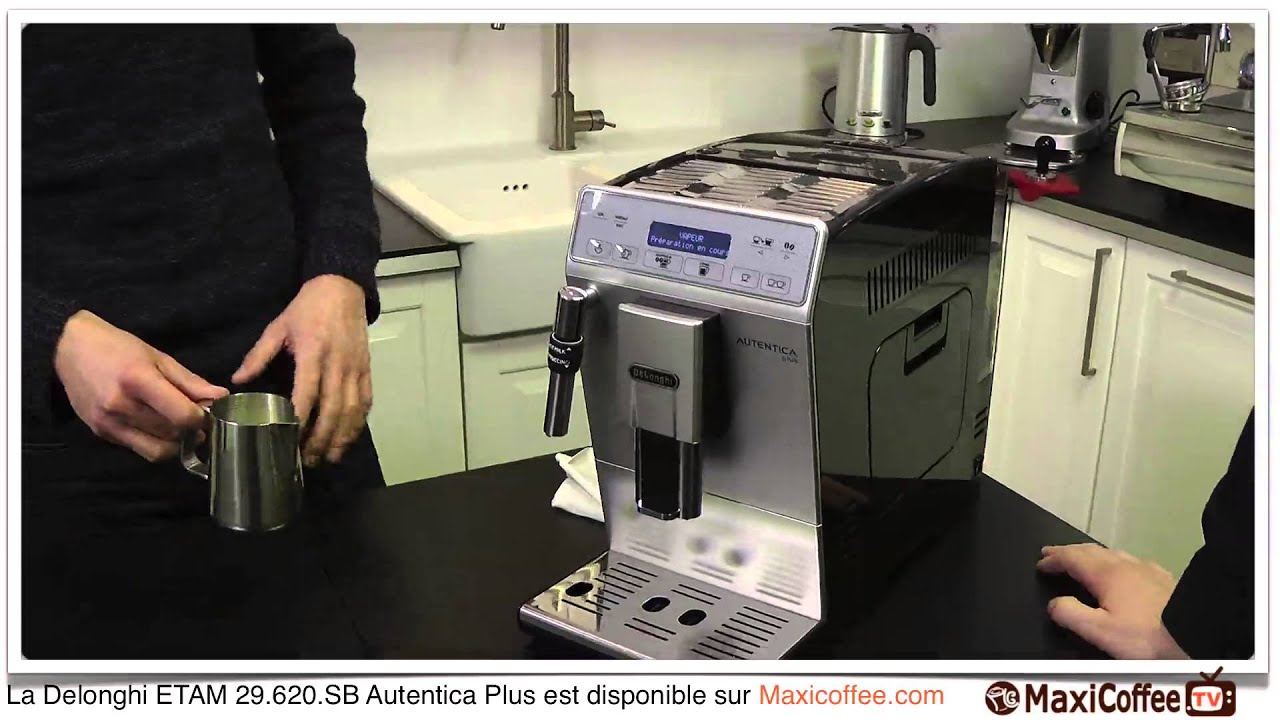 delonghi etam autentica plus machine caf automatique le test maxicoffee youtube. Black Bedroom Furniture Sets. Home Design Ideas