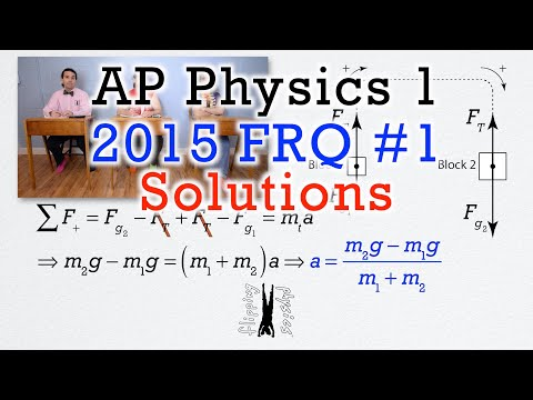 #1 Free Response Question - AP Physics 1 - 2015 Exam Solutions