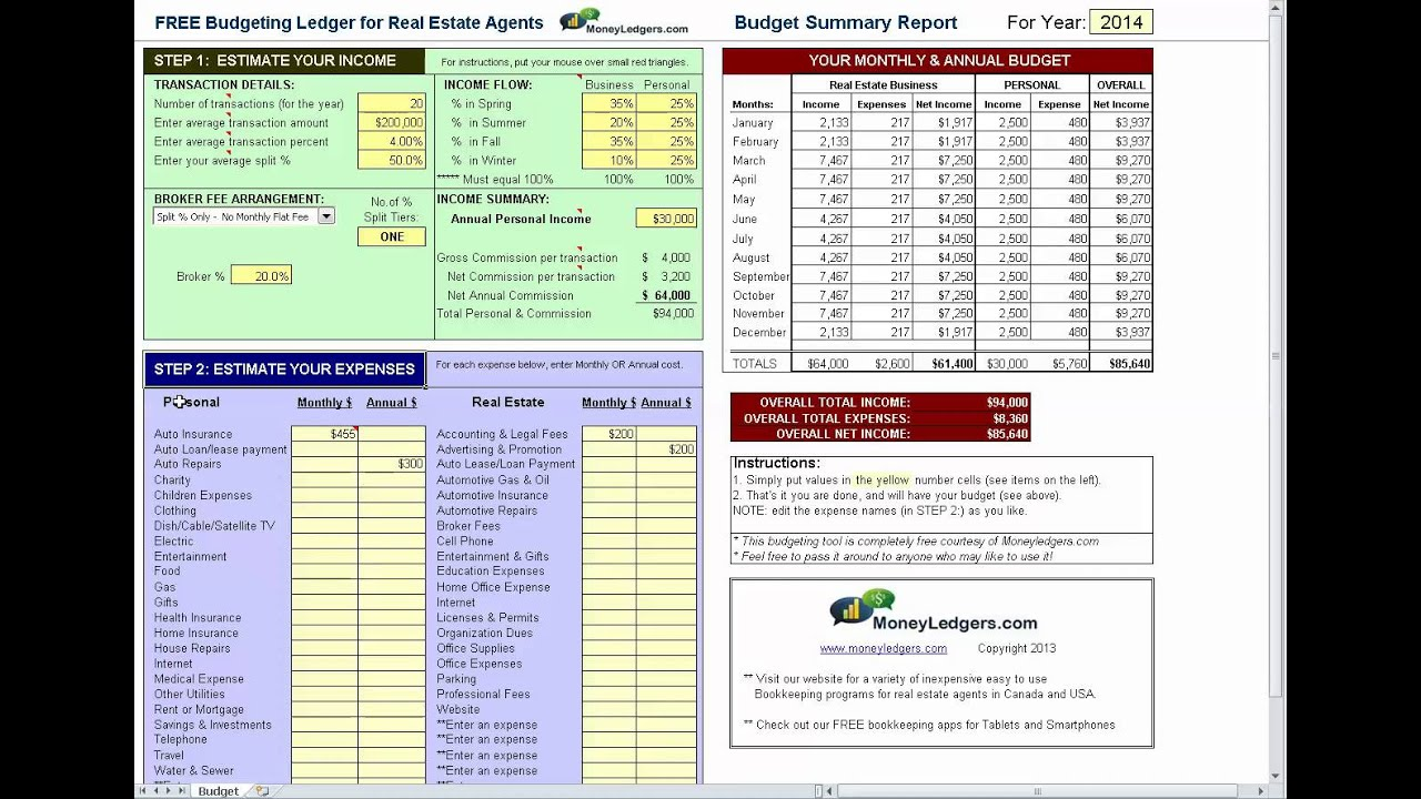 Free & Simple Budget Software for Real Estate Agents - YouTube
