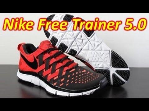 Nike Free Trainer 5.0 Armure Pour Les Femmes Noires Et Rouges