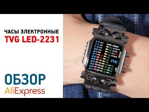 ЧАСЫ TVG LED-2231 с Алиэкспресс Обзор Инструкция по настройке