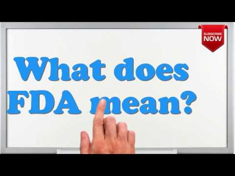 What is the full form of FDA? - YouTube