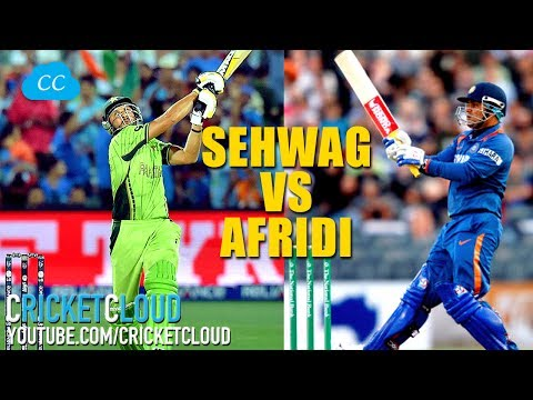 SEHWAG Vs AFRIDI - Who Would You Pick For The Most Fearless Batsman ?