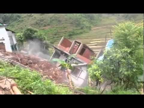Landslide in Parbat Huwas Nepal