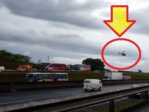 VIDEO MOMENTO DA QUEDA Helicóptero cai e mata jornalista da Band Rodrigues Boechat