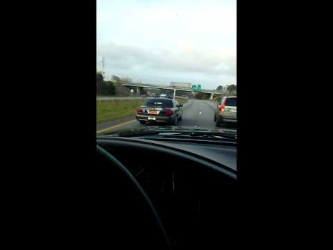 [USA] North Carolina sheriff brake checks a driver, resulting in a rear-end collision