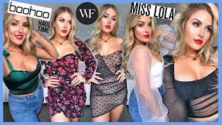 a GIANT clothing haul & try on! 💰 Boohoo, White Fox Boutique, Miss Lola & More!
