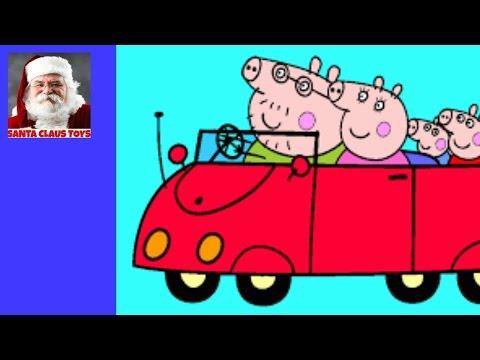 santa-claus:-peppa-pig-big-red-car-unboxing