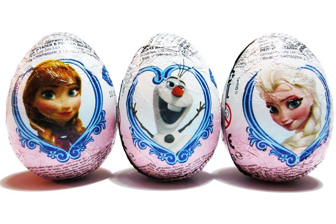 3 Disney Frozen Surprise Eggs Unboxing Zaini Like Kinder Surprise ...