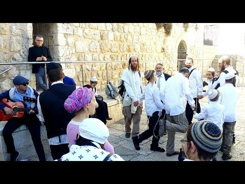 Jews and muslims coming together in Jerusalem