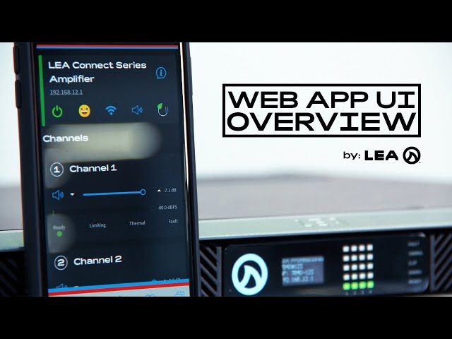 Overview: Web App UI - Connect Series Control