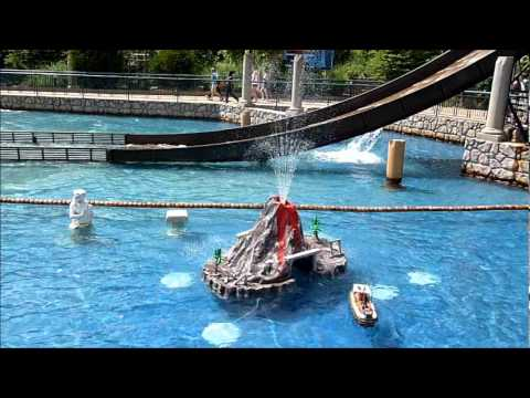 Volcano at Escape from Pompeii RC Boats in Busch Gardens ...