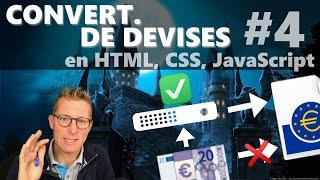 La sécurité CORS - Programmer un convertisseur de devises en HTML, CSS, JavaScript (4/4)