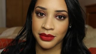 Holiday Red Lips Makeup Tutorial   Collab with @thefancyfaced Thumbnail
