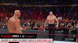 GOLDBERG VS BROCK LESNAR SURVIVER SERISE