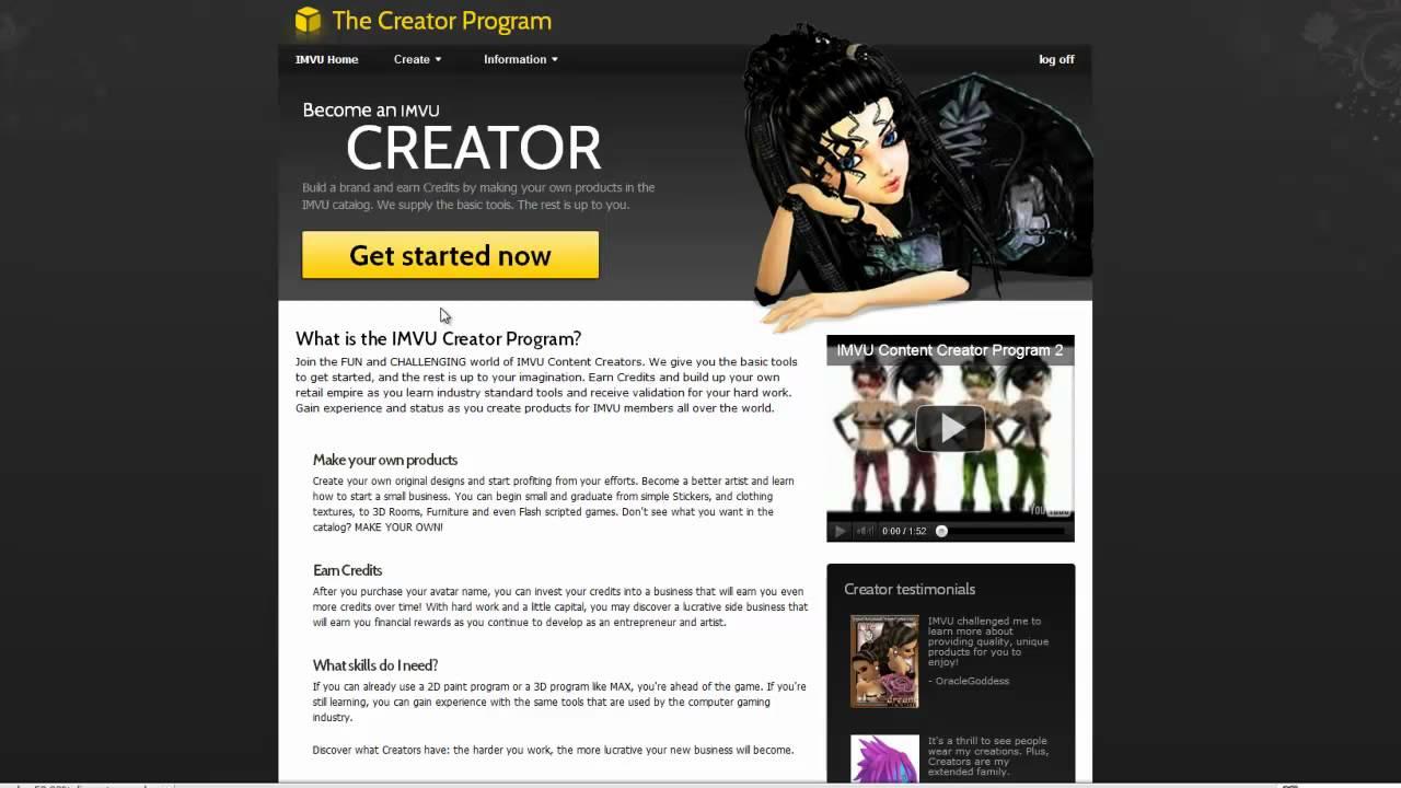 Imvu create your own avatar
