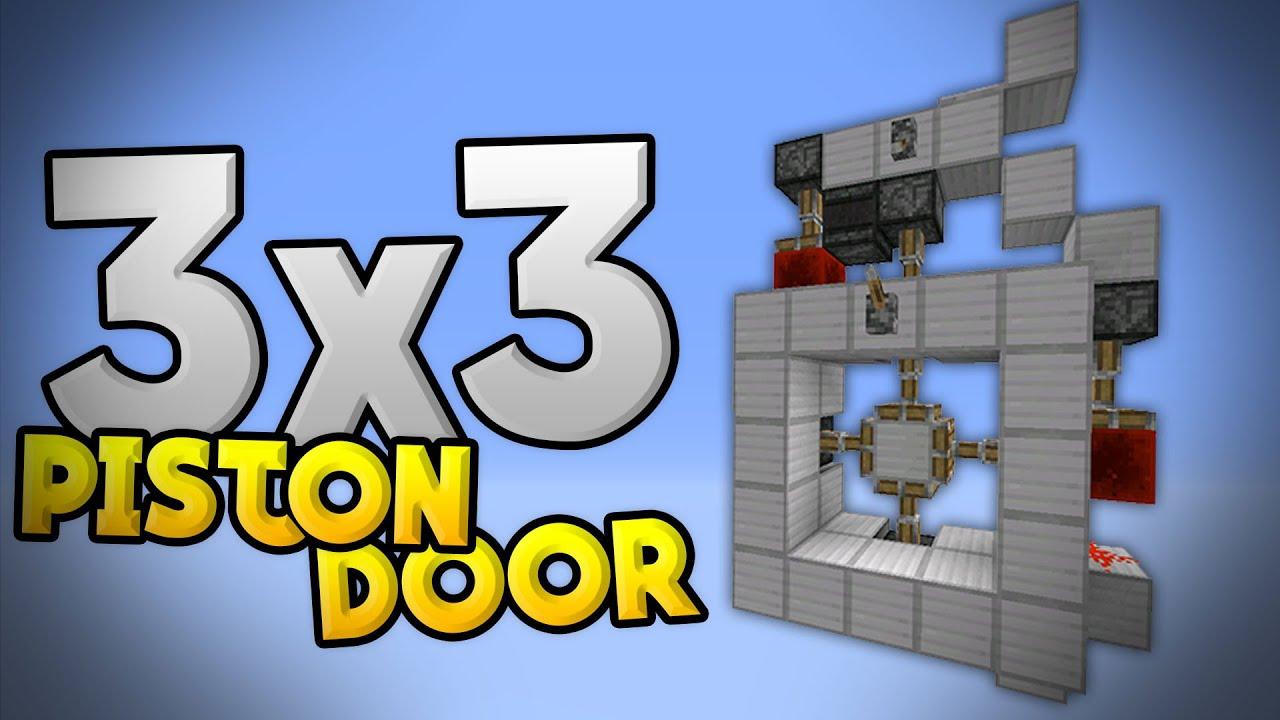 3x3 Piston Cross Door Tutorial Redstone Door In Mcpe 0