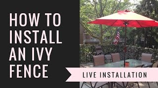 How to install faux ivy privacy fence screen