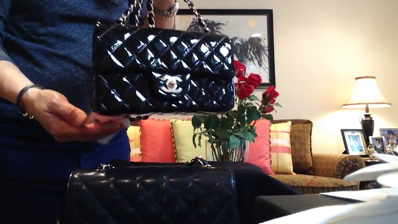 9b0f8dfdd1af Chanel MINI FLAP Black Patent leather - YouTube
