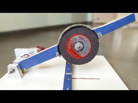 How to Make a Metal cutter / Chop Saw Machine at Home
