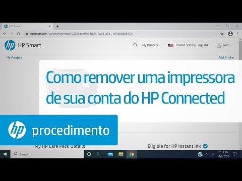 Como remover uma impressora de sua conta do HP Connected | Impressoras HP | HP