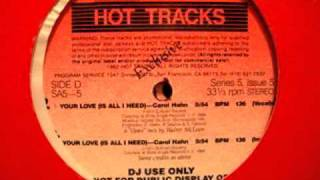 Your Love Is All I Need (Hot Tracks) - Carol Hahn