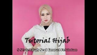 8 Style Cara Memakai Hijab Segi Empat Simple Paling Kekinian Untuk Sehari Hari Hari ALA HIJABER