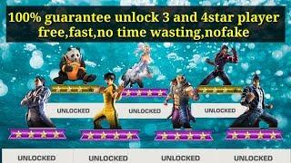 Tekken Mobile 100% guarantee unlocked 4 and 3 star fighters free easy nofake