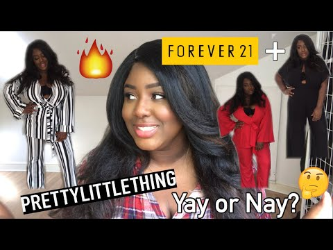 PRETTY LITTLE THING PLUS HIGH JACKED MY HAUL!! | FOREVER 21 PLUS |