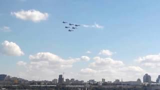 Шоу новых российских самолетов  над волгой в самаре!!!