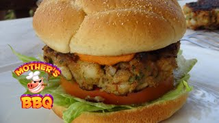 How To Make A Seafood Burger Recipe | Island Grillstone