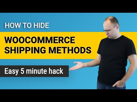 How to Hide Woocommerce Shipping Methods with Shipping Classes?