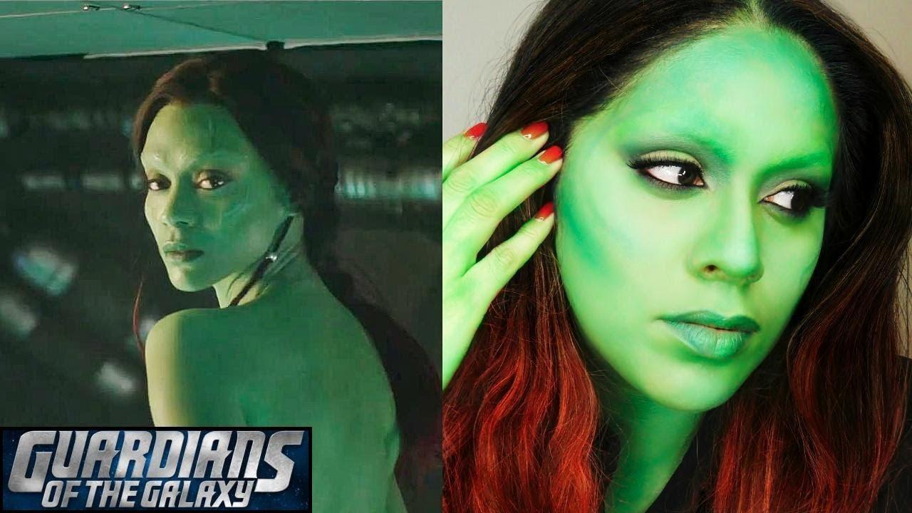 Guardians of the galaxy gamora makeup youtube