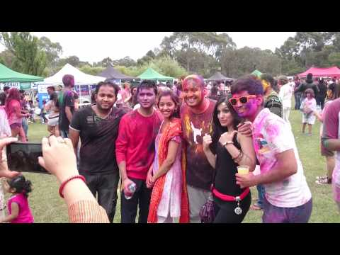 Holi Festival in Melbourne at Latrobe University 2015