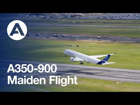 The first A350 XWB takes off