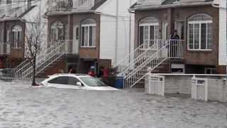 Hurricane Sandy. Police rescue in midland beach ,staten island NY
